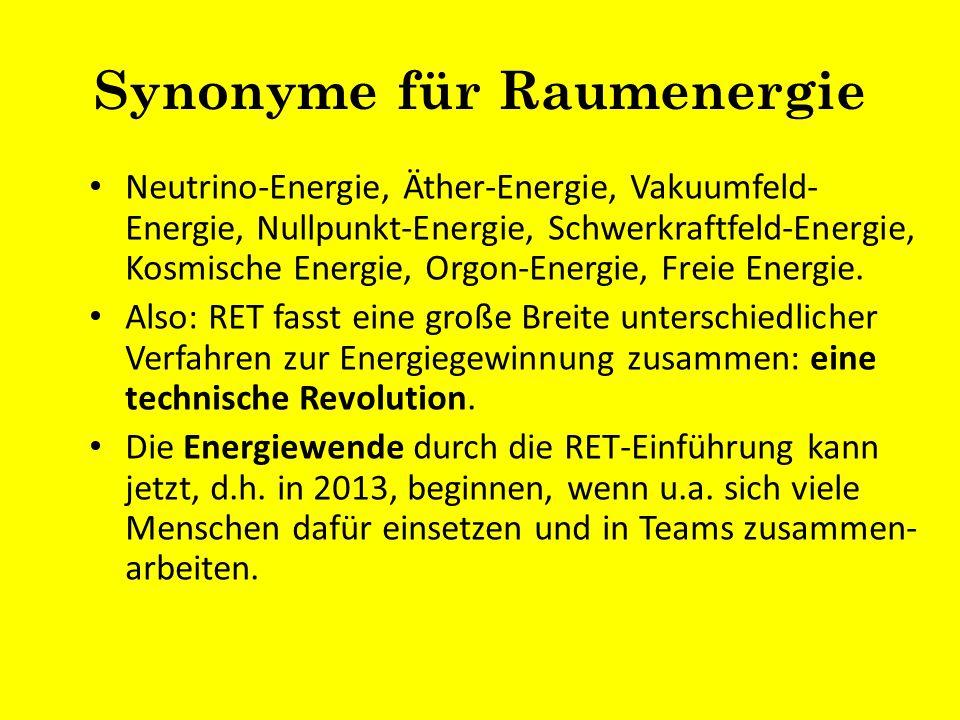 Synonyme für Raumenergie