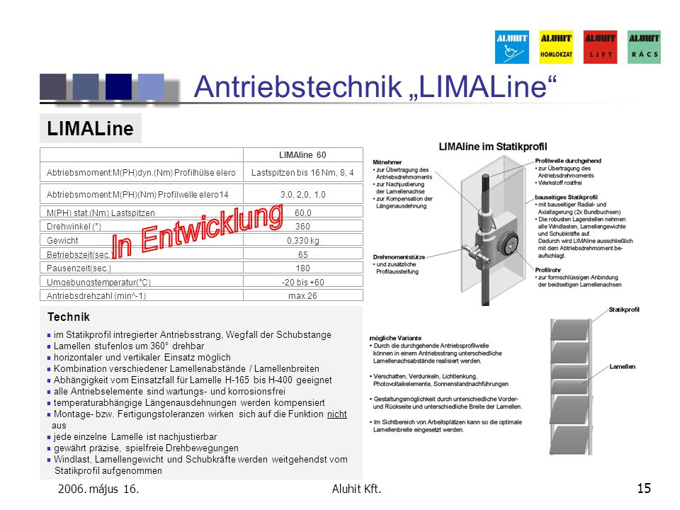 """Antriebstechnik """"LIMALine"""