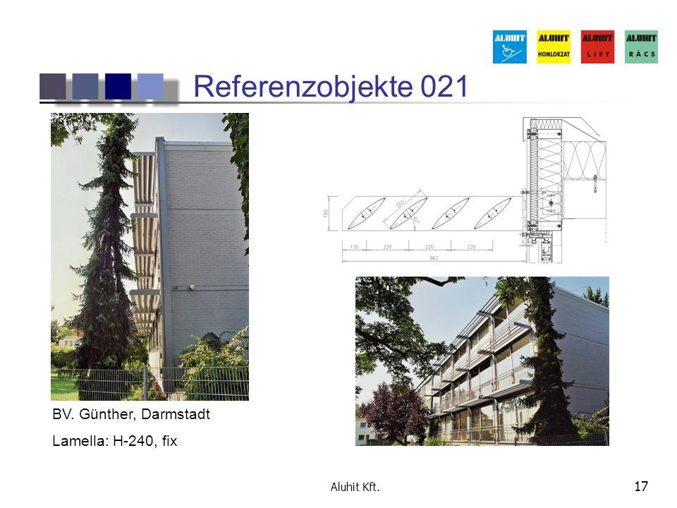 Referenzobjekte 021 BV. Günther, Darmstadt Lamella: H-240, fix