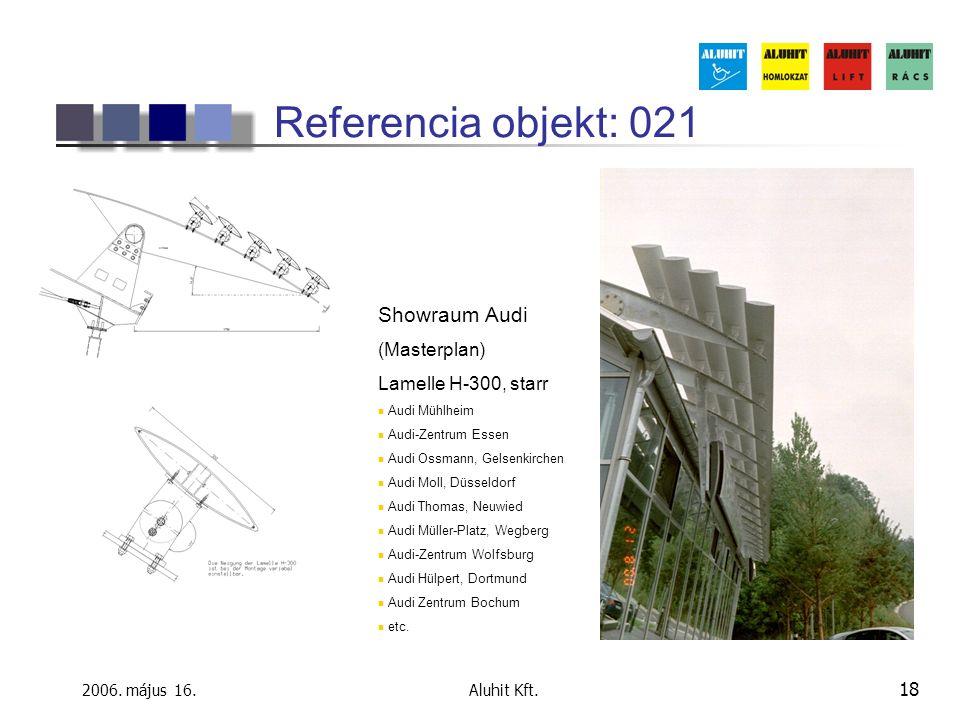 Referencia objekt: 021 Showraum Audi (Masterplan) Lamelle H-300, starr