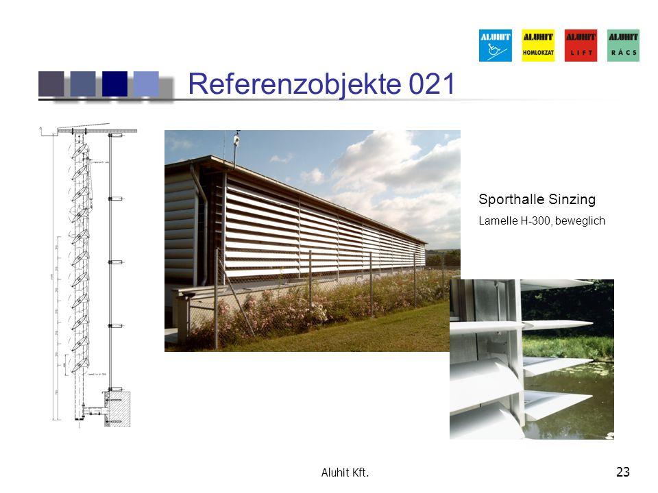 Referenzobjekte 021 Sporthalle Sinzing Lamelle H-300, beweglich