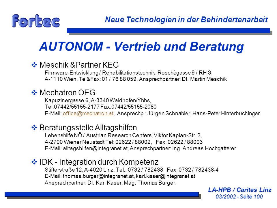 AUTONOM - Vertrieb und Beratung