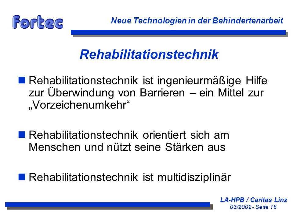 Rehabilitationstechnik