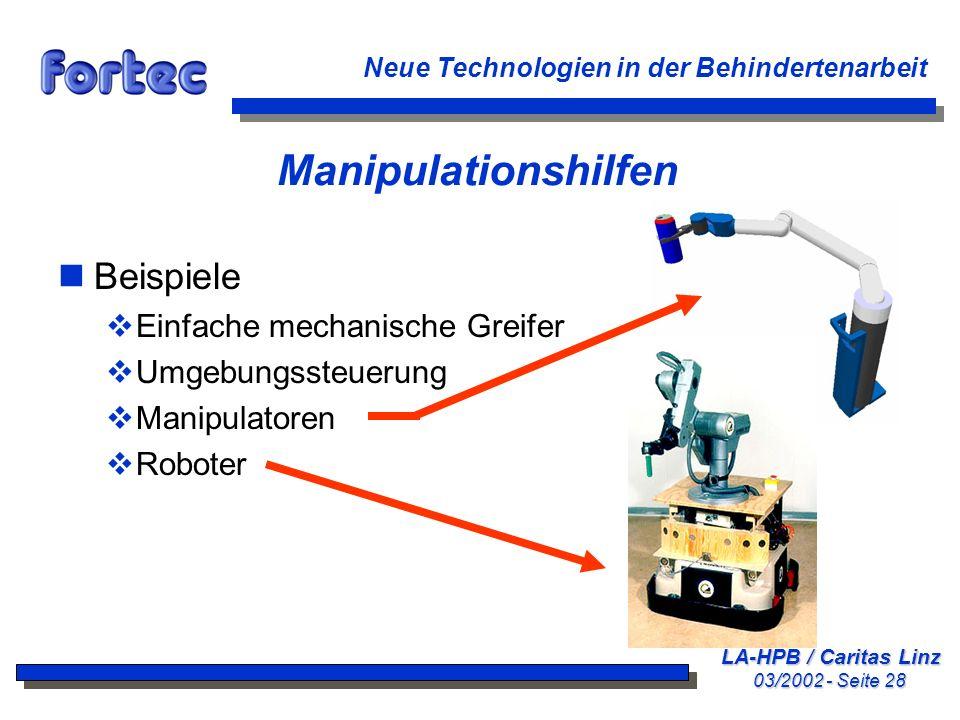 Manipulationshilfen Beispiele Einfache mechanische Greifer