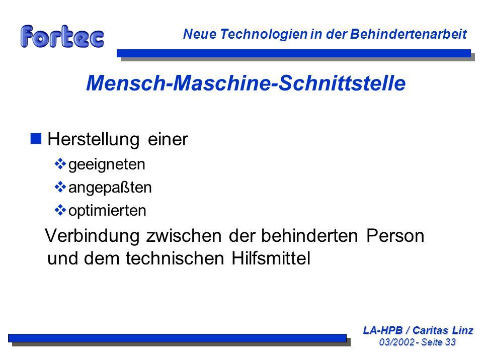 Mensch-Maschine-Schnittstelle