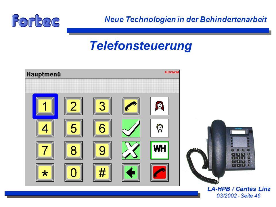 Telefonsteuerung Neue Technologien in der Behindertenarbeit