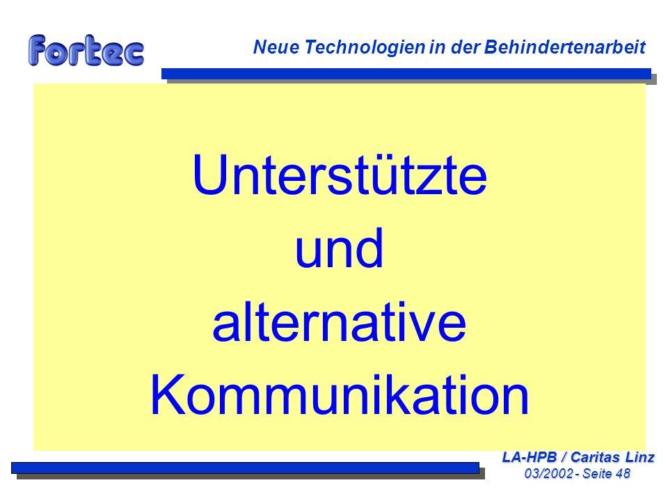 Unterstützte und alternative Kommunikation