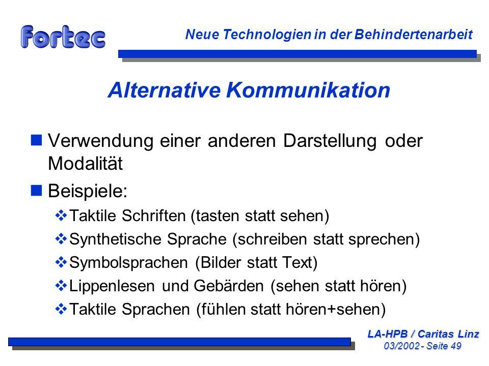 Alternative Kommunikation