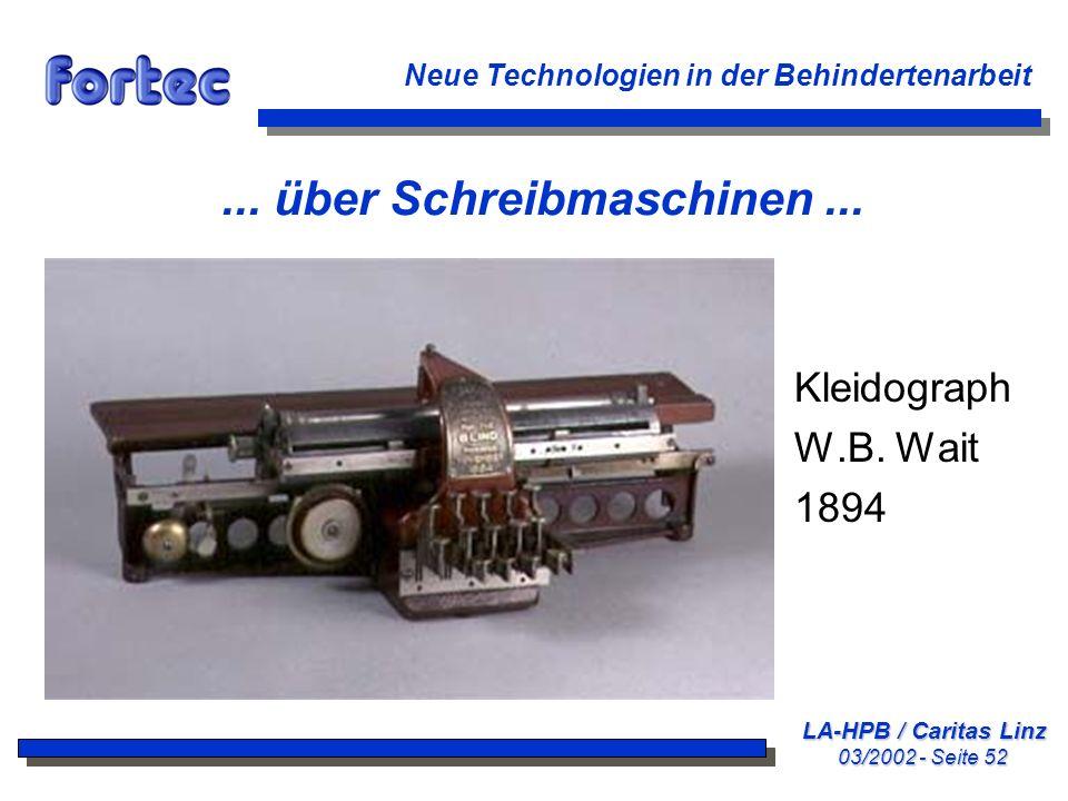 ... über Schreibmaschinen ...