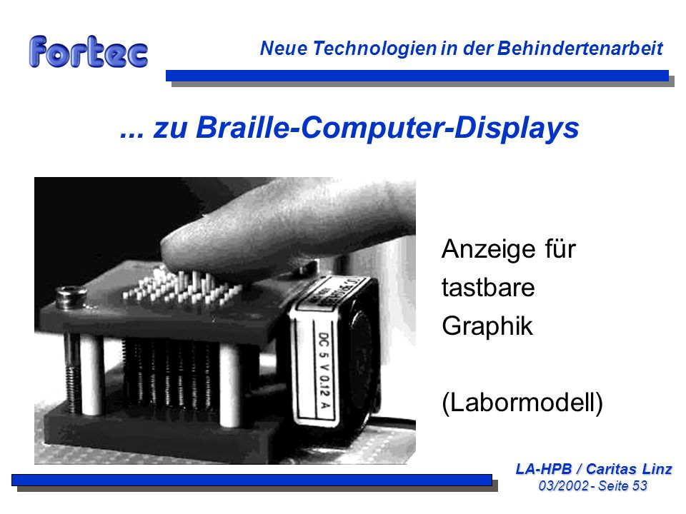 ... zu Braille-Computer-Displays