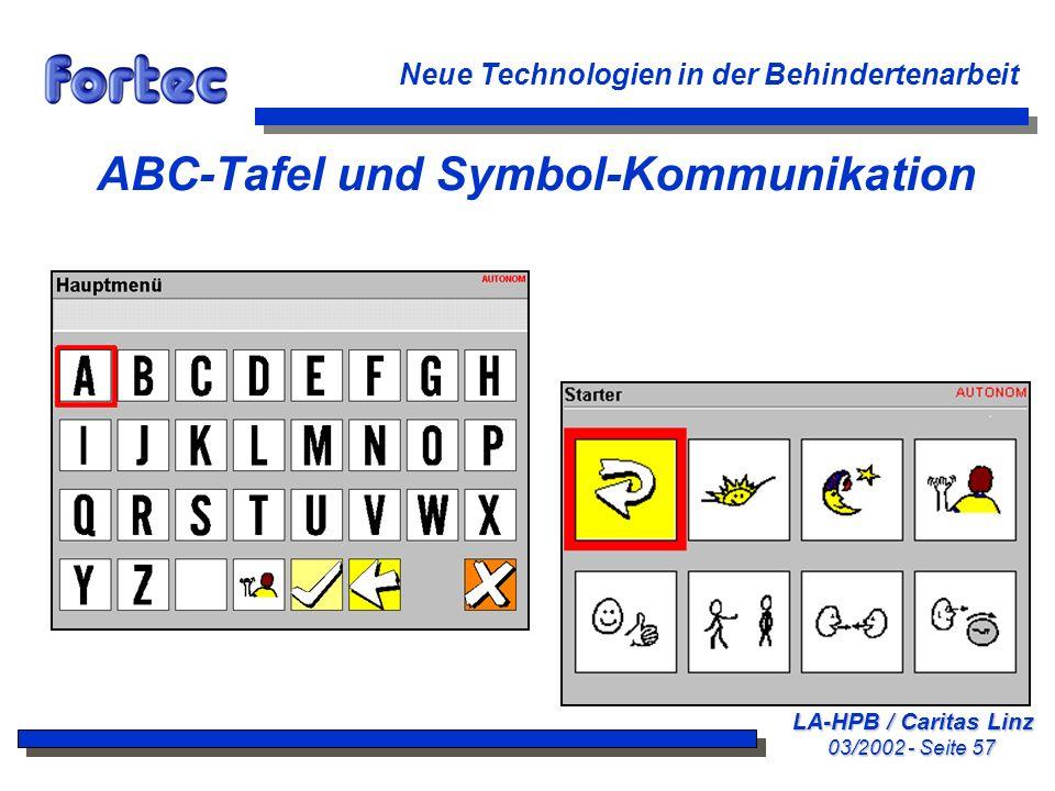 ABC-Tafel und Symbol-Kommunikation
