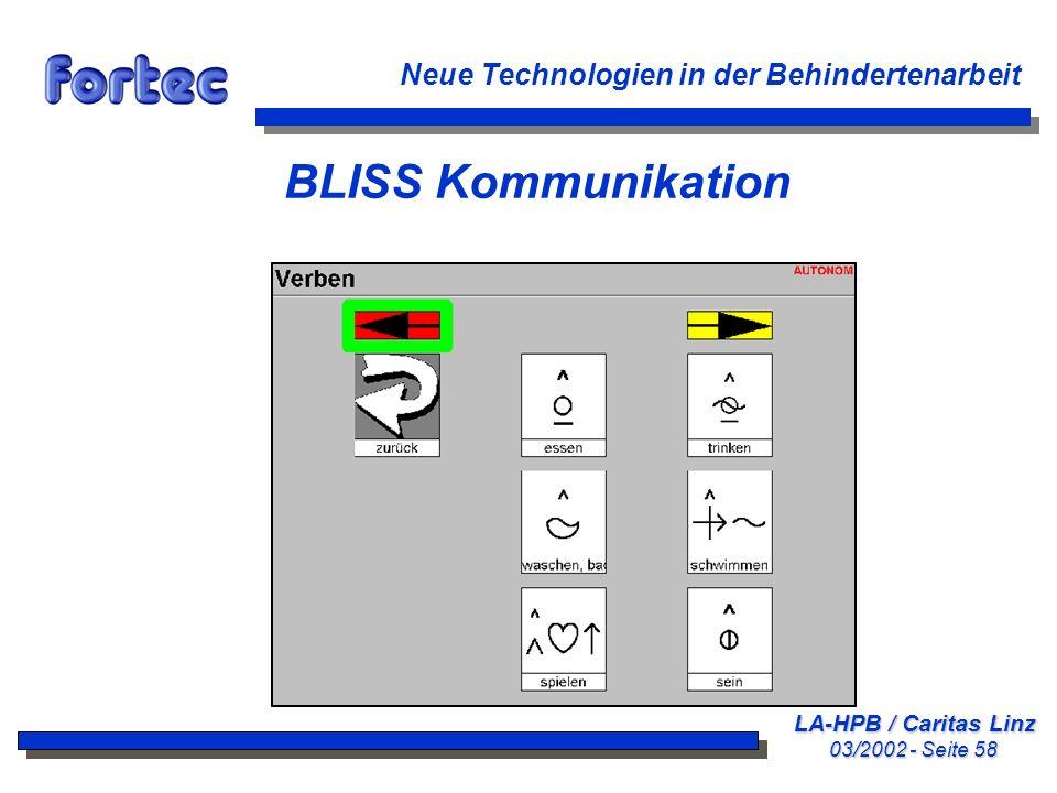 BLISS Kommunikation Neue Technologien in der Behindertenarbeit