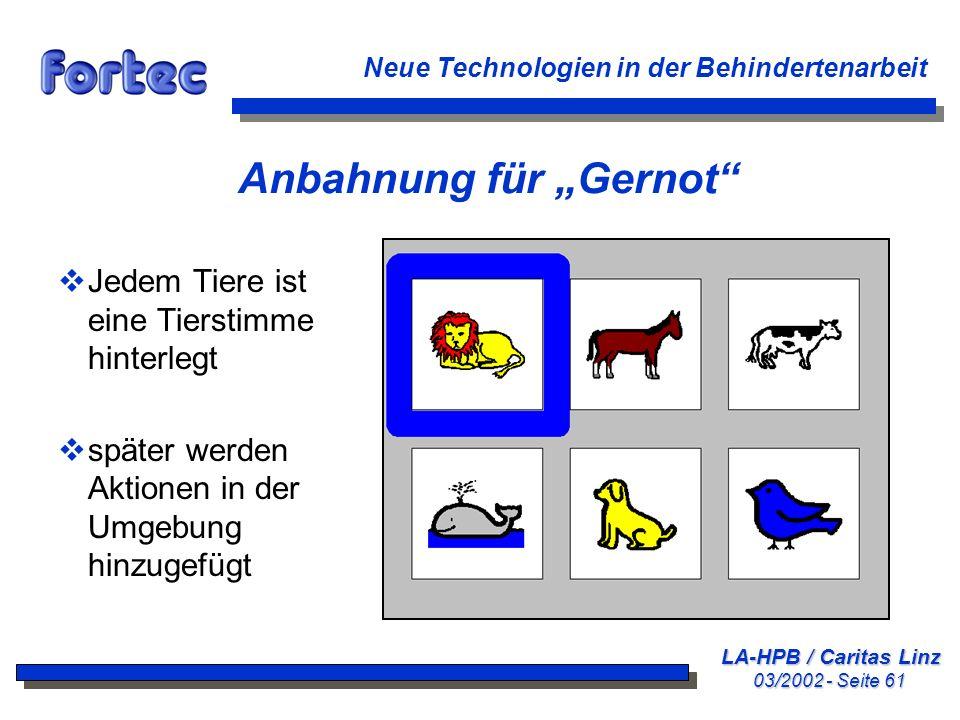 """Anbahnung für """"Gernot"""
