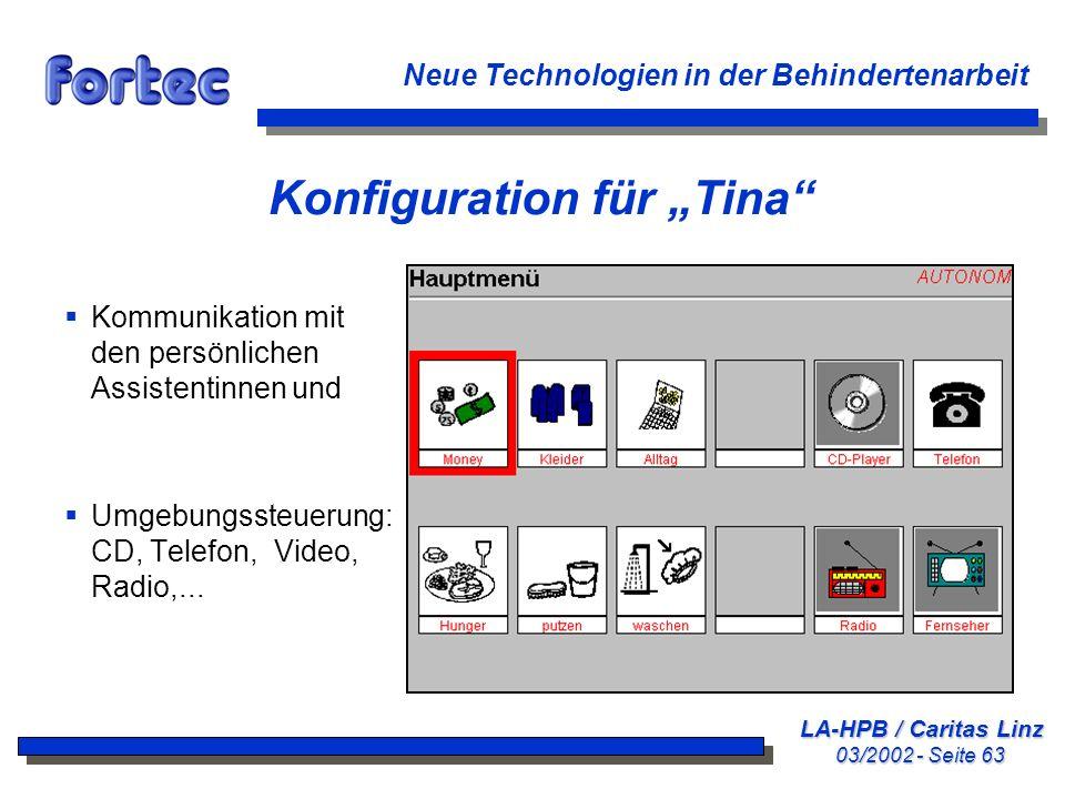 "Konfiguration für ""Tina"