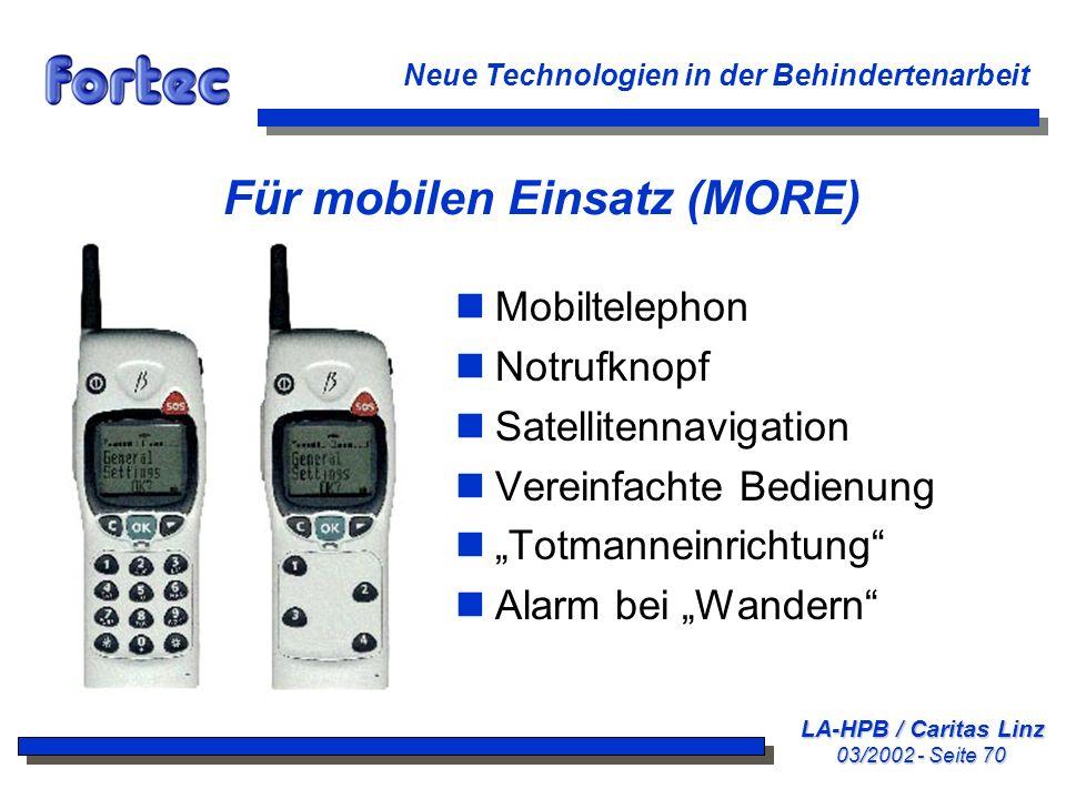Für mobilen Einsatz (MORE)