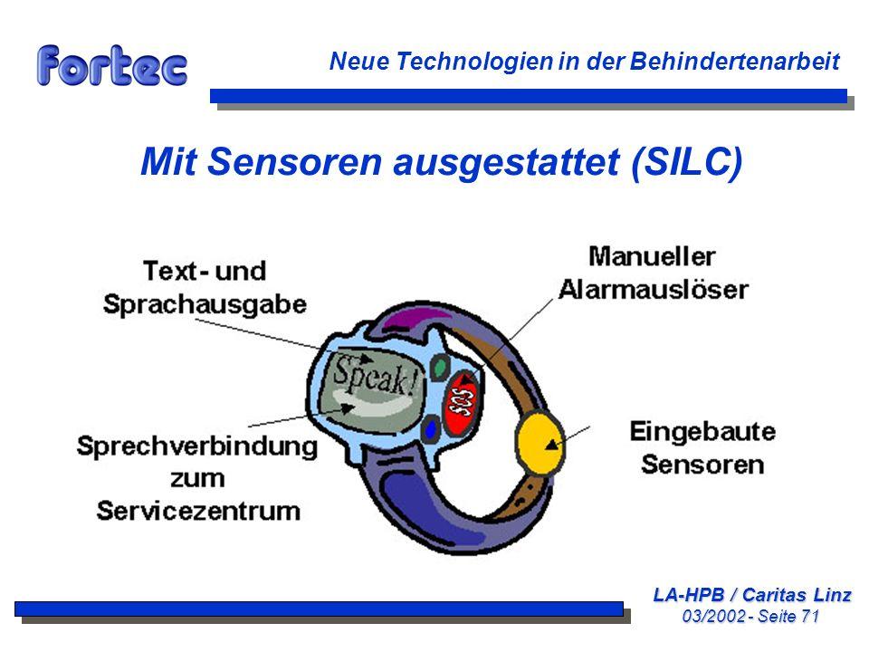 Mit Sensoren ausgestattet (SILC)