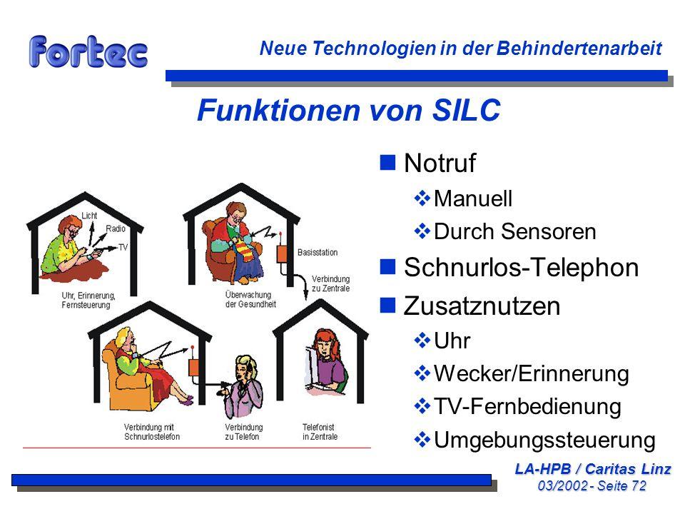 Funktionen von SILC Notruf Schnurlos-Telephon Zusatznutzen Manuell