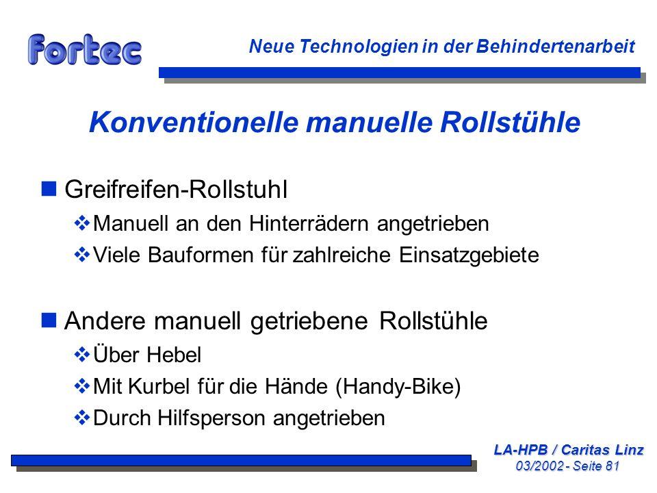 Konventionelle manuelle Rollstühle