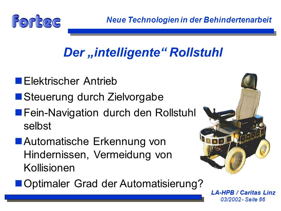 """Der """"intelligente Rollstuhl"""