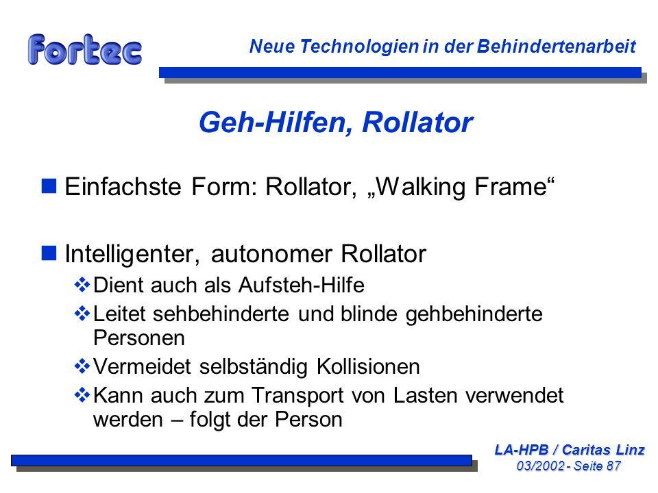 """Geh-Hilfen, Rollator Einfachste Form: Rollator, """"Walking Frame"""