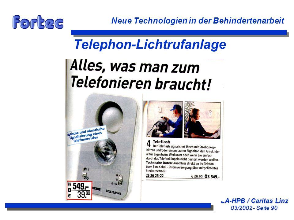 Telephon-Lichtrufanlage
