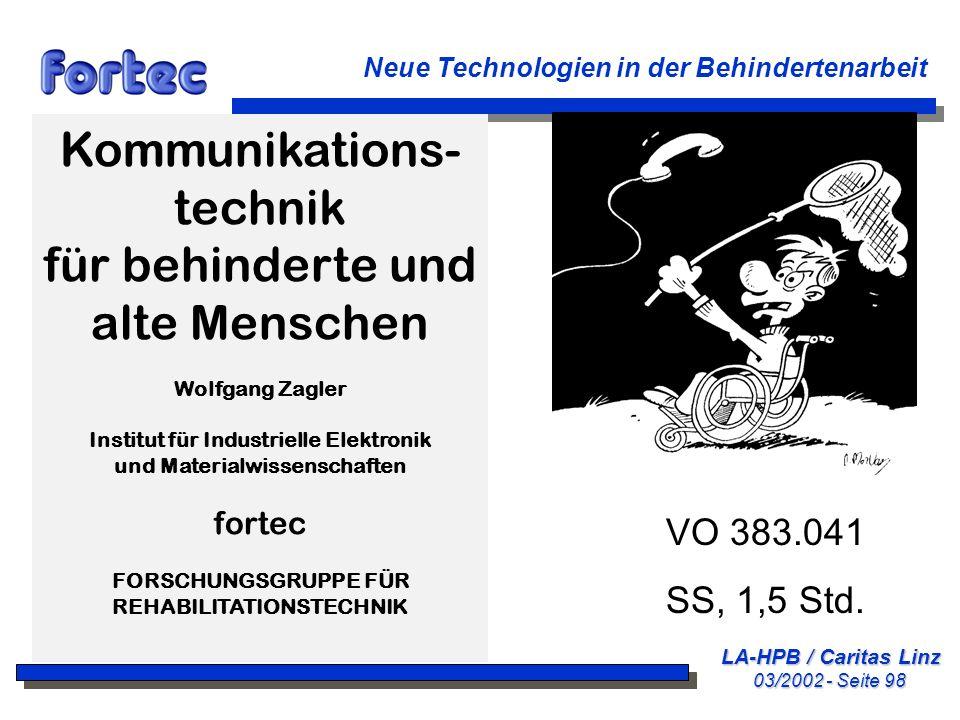 Kommunikations-technik für behinderte und alte Menschen