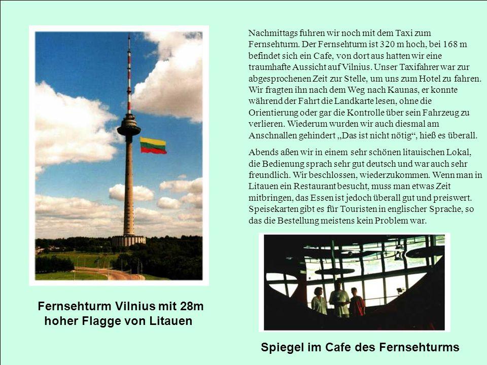 Fernsehturm Vilnius mit 28m hoher Flagge von Litauen