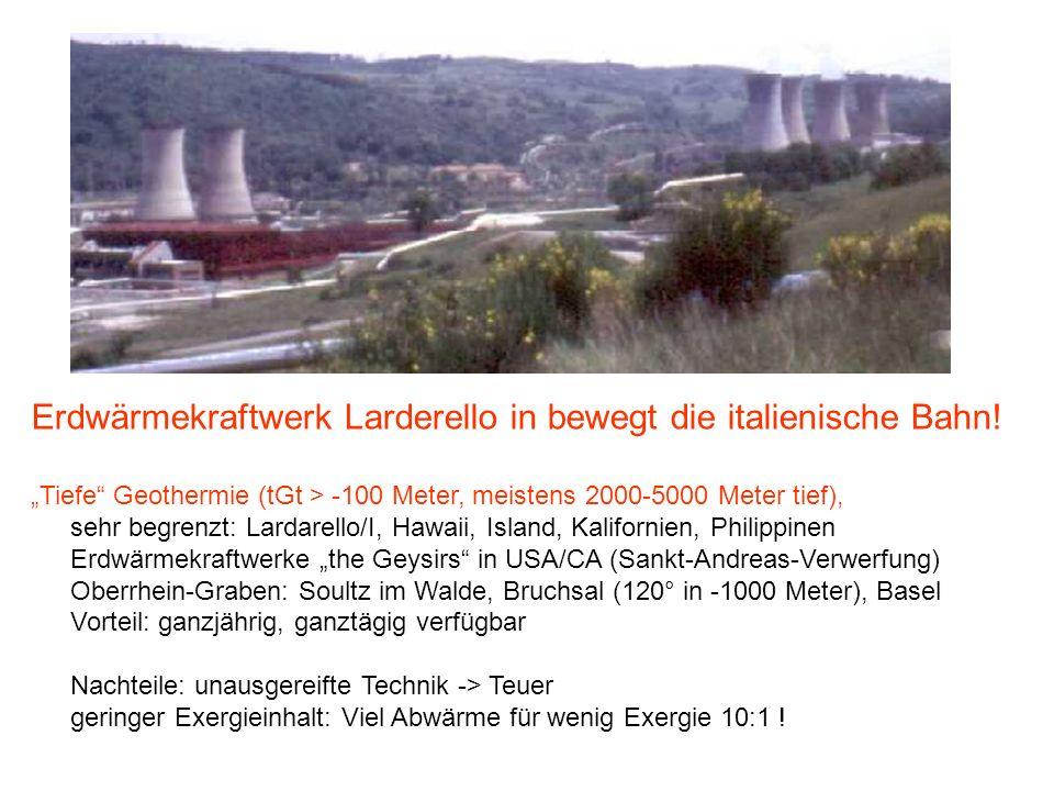Erdwärmekraftwerk Larderello in bewegt die italienische Bahn!
