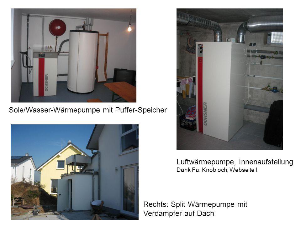 Sole/Wasser-Wärmepumpe mit Puffer-Speicher