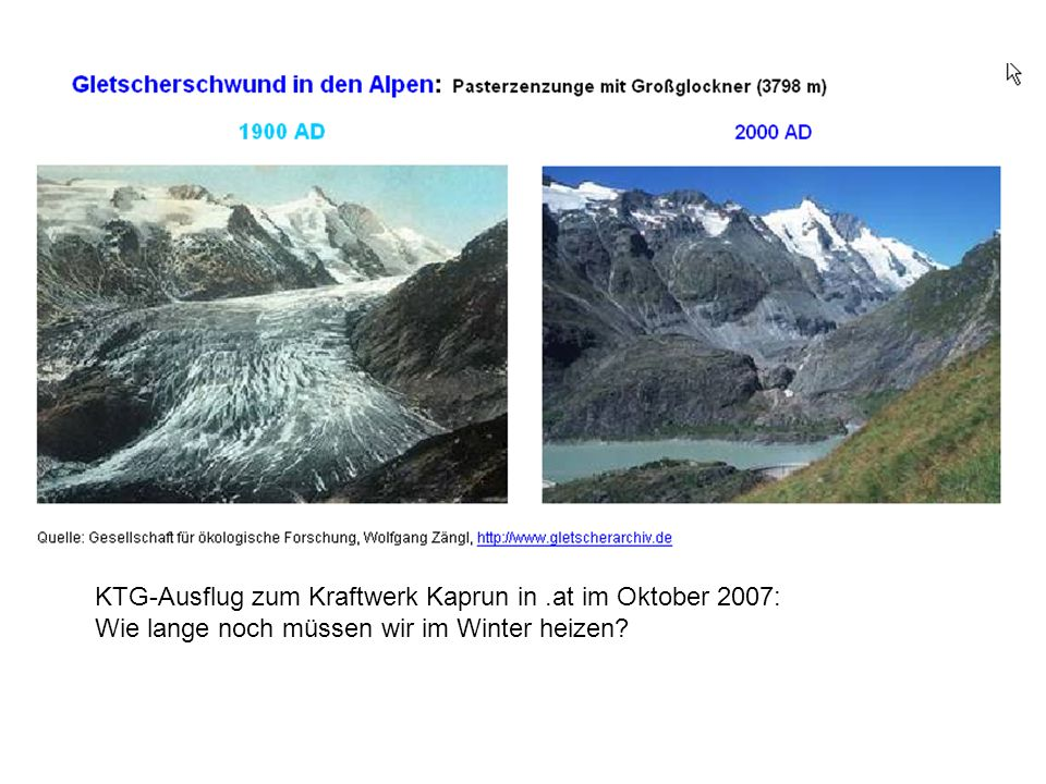 KTG-Ausflug zum Kraftwerk Kaprun in .at im Oktober 2007: