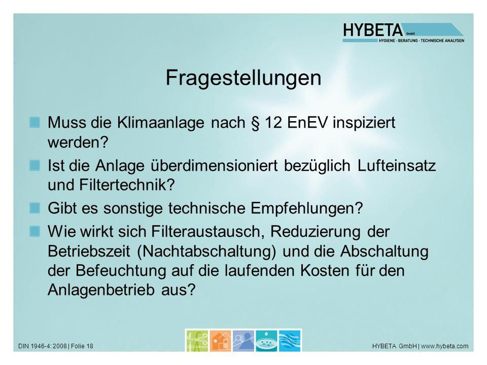 Fragestellungen Muss die Klimaanlage nach § 12 EnEV inspiziert werden