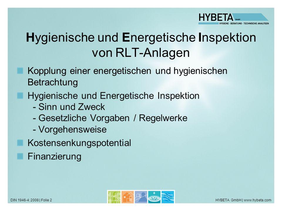 Hygienische und Energetische Inspektion von RLT-Anlagen