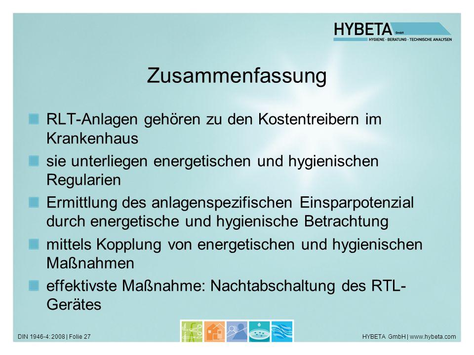 Zusammenfassung RLT-Anlagen gehören zu den Kostentreibern im Krankenhaus. sie unterliegen energetischen und hygienischen Regularien.