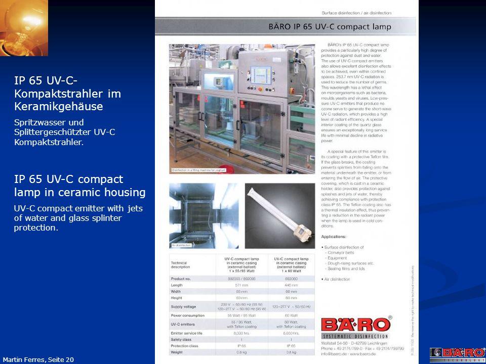 IP 65 UV-C-Kompaktstrahler im Keramikgehäuse