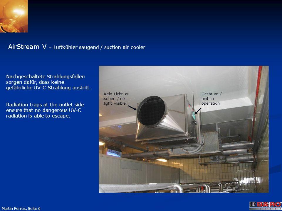 AirStream V – Luftkühler saugend / suction air cooler