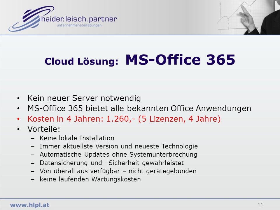 Cloud Lösung: MS-Office 365