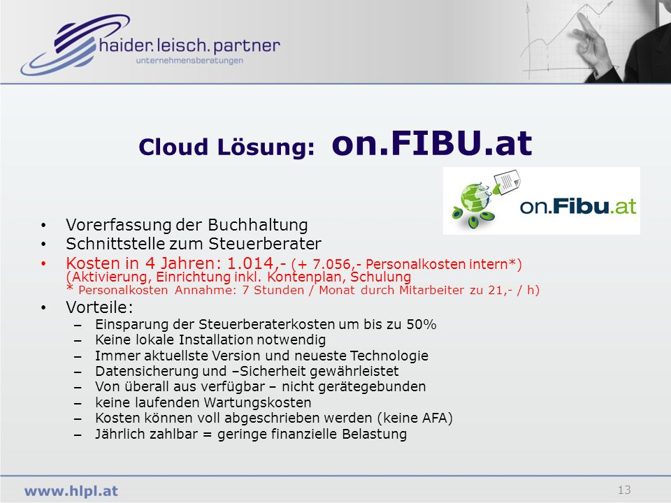 Cloud Lösung: on.FIBU.at