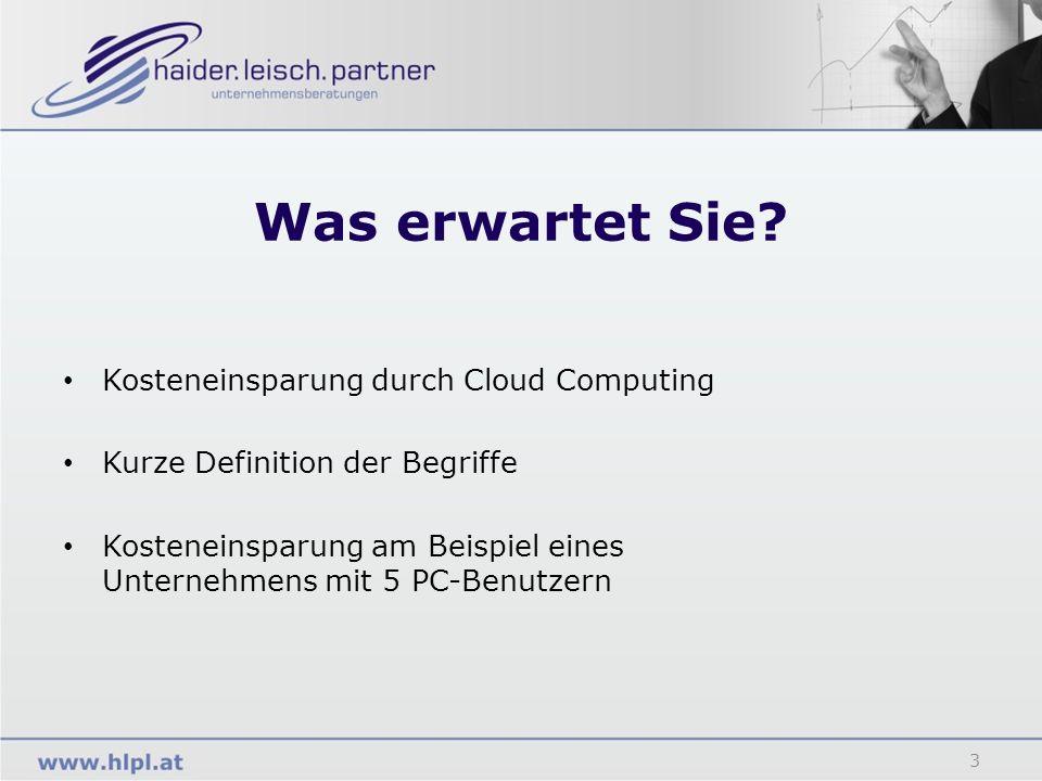 Was erwartet Sie Kosteneinsparung durch Cloud Computing