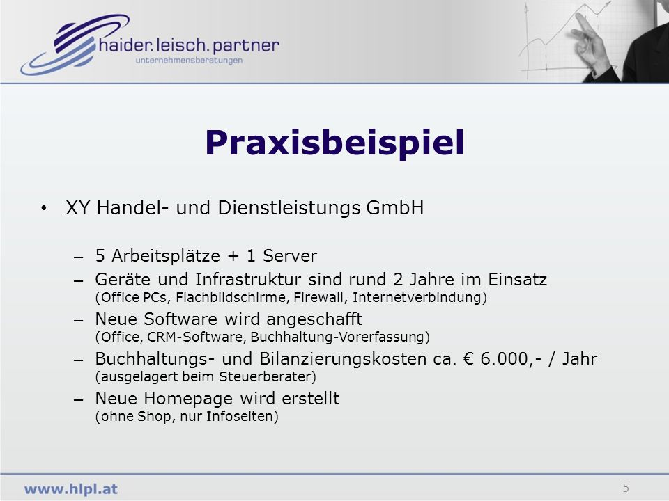 Praxisbeispiel XY Handel- und Dienstleistungs GmbH