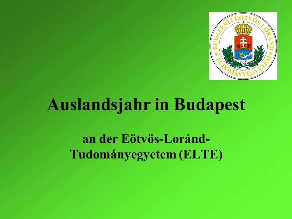 Auslandsjahr in Budapest
