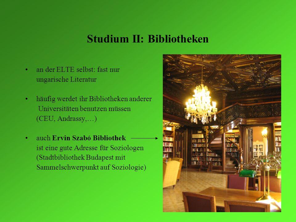 Studium II: Bibliotheken