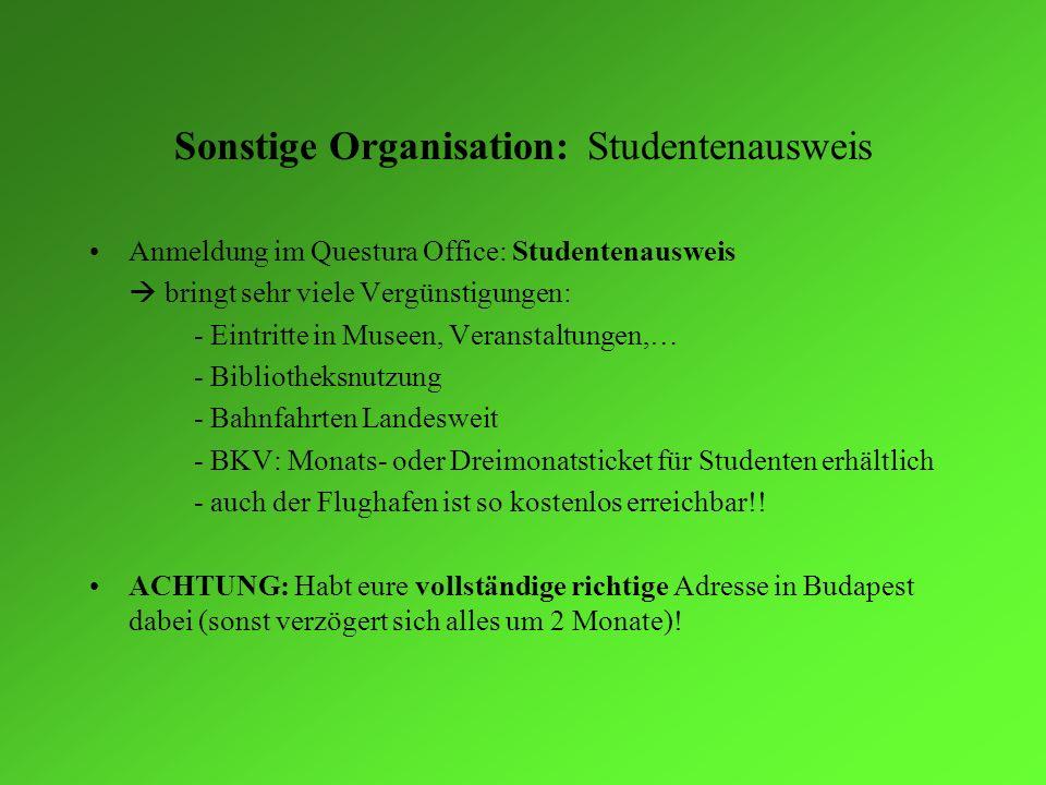 Sonstige Organisation: Studentenausweis