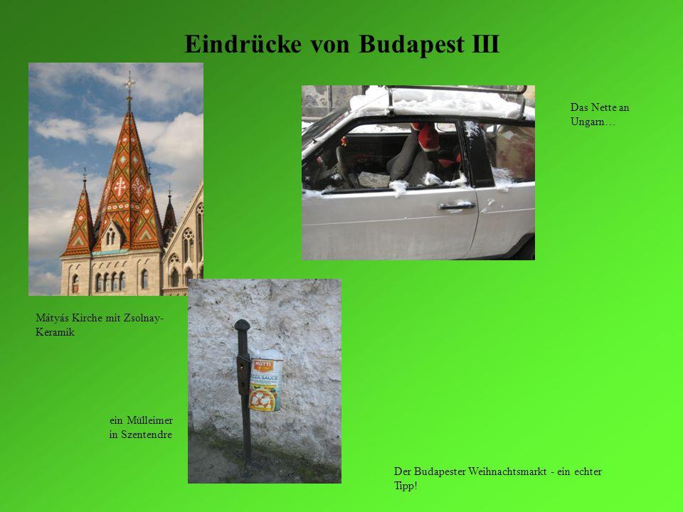 Eindrücke von Budapest III