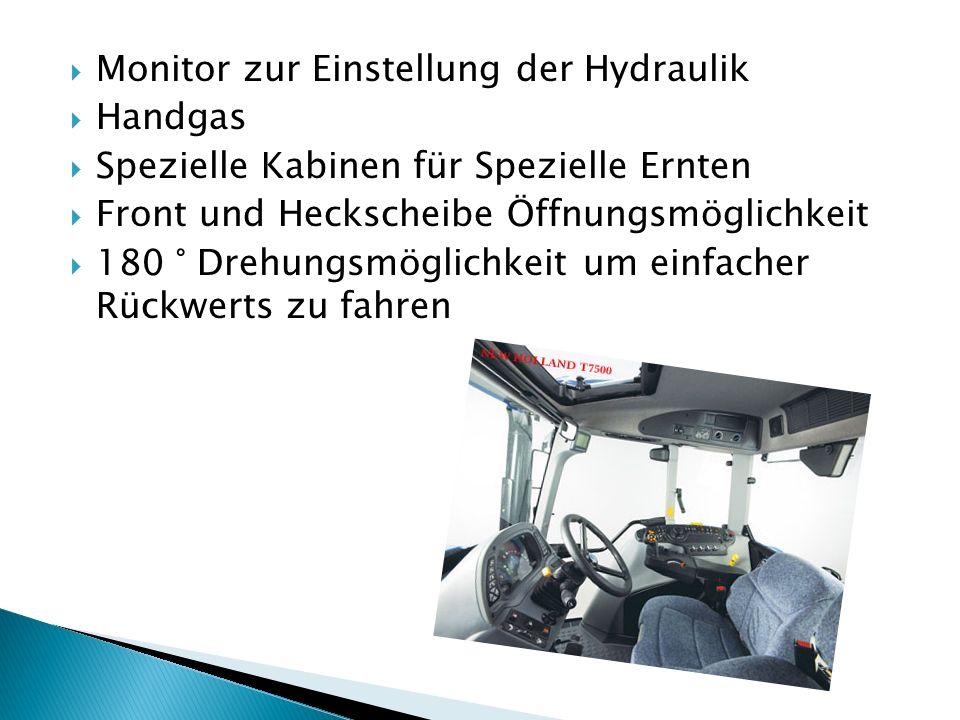 Monitor zur Einstellung der Hydraulik