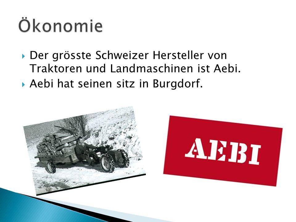Ökonomie Der grösste Schweizer Hersteller von Traktoren und Landmaschinen ist Aebi.