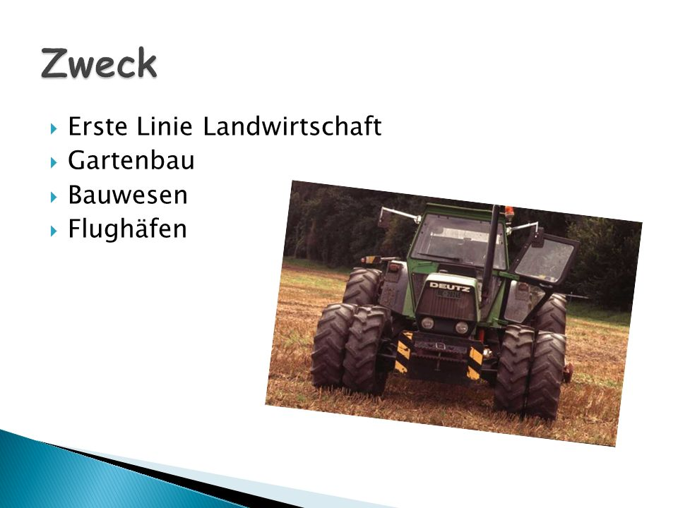 Zweck Erste Linie Landwirtschaft Gartenbau Bauwesen Flughäfen