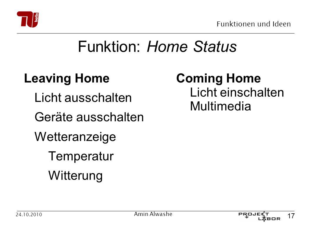 Funktion: Home Status Leaving Home Licht ausschalten