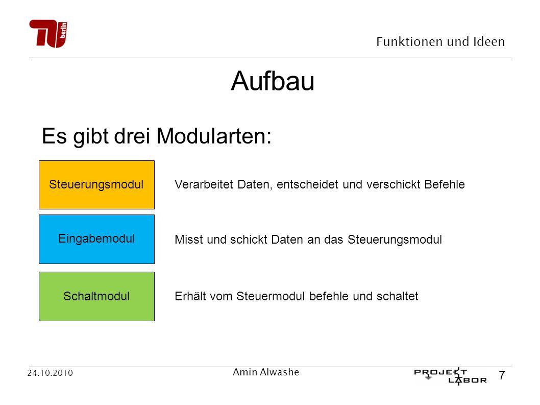 Aufbau Es gibt drei Modularten: Steuerungsmodul