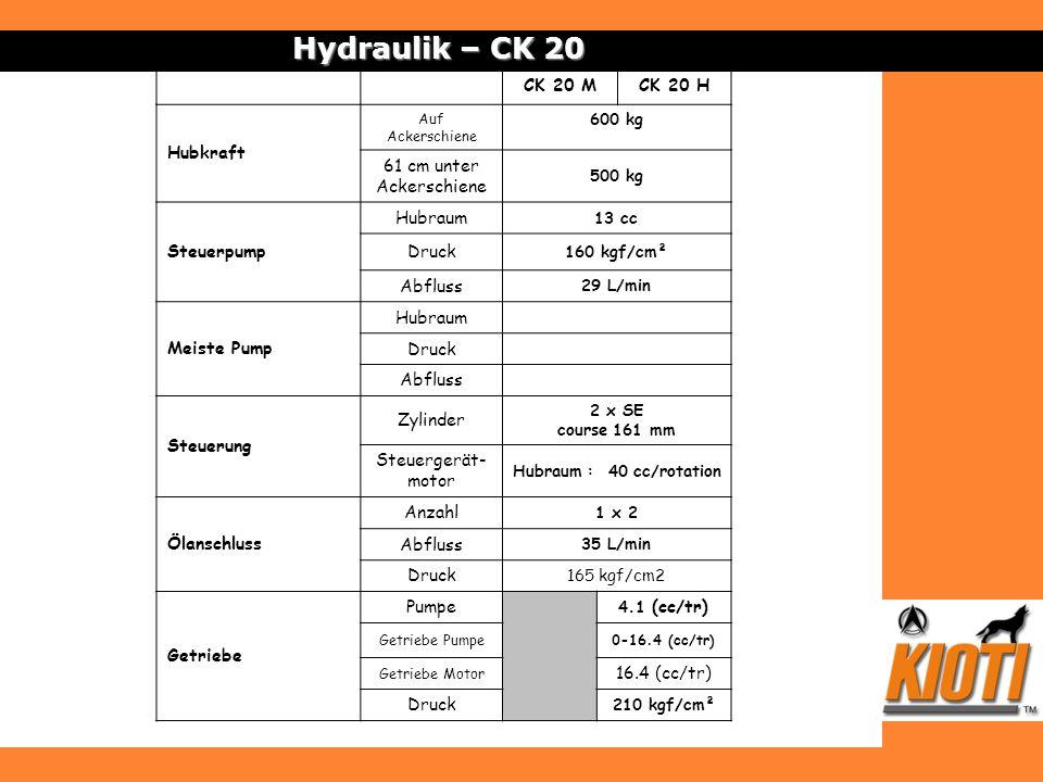 Hydraulik – CK 20 CK 20 M CK 20 H Hubkraft 61 cm unter Ackerschiene