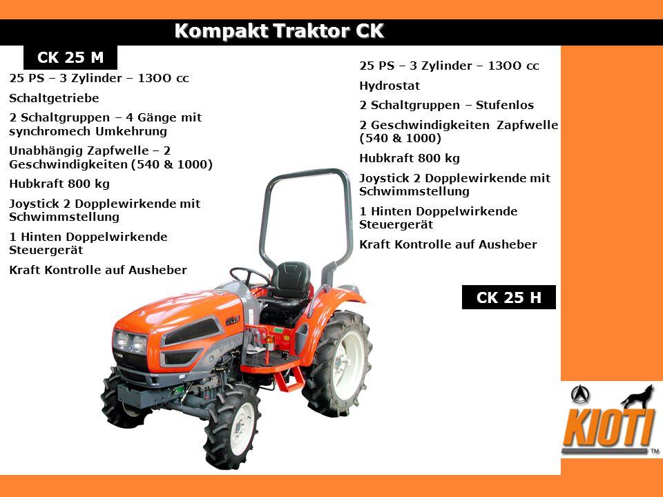 Kompakt Traktor CK CK 25 M CK 25 H 25 PS – 3 Zylinder – 13OO cc